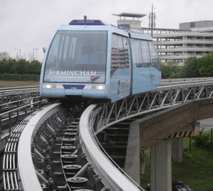 airrail link op vliegveld birmingham