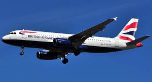 Een British Airways Airbus A320