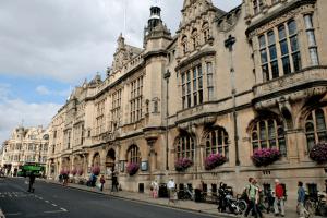 een straat in Oxford